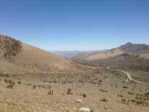 Walker Pass toward Mojave Desert