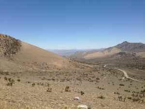 Walker Pass toward Mojave Desert