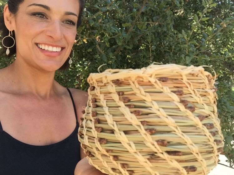 I bought instructions for making pine needle baskets at the Lassen Volcanic NP Visitor Center. I made this with my own two hands! Its probably because according to Ancestry.com I'm at least 47% Native American. I'm a natural!