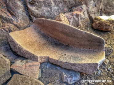 Broken metate