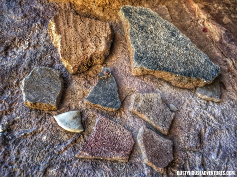Pottery sherds found in Cooper Forks Canyon