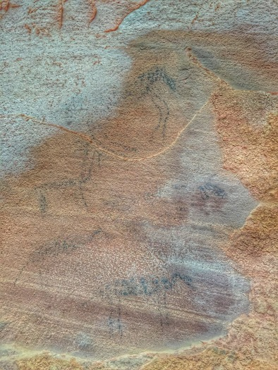 More modern pictograph. Possibly Apache. Sycamore Canyon, Arizona