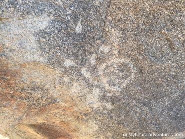 Petroglyph in Joshua Tree National Park - California