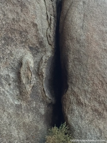 Natural Vesica Pices in rock