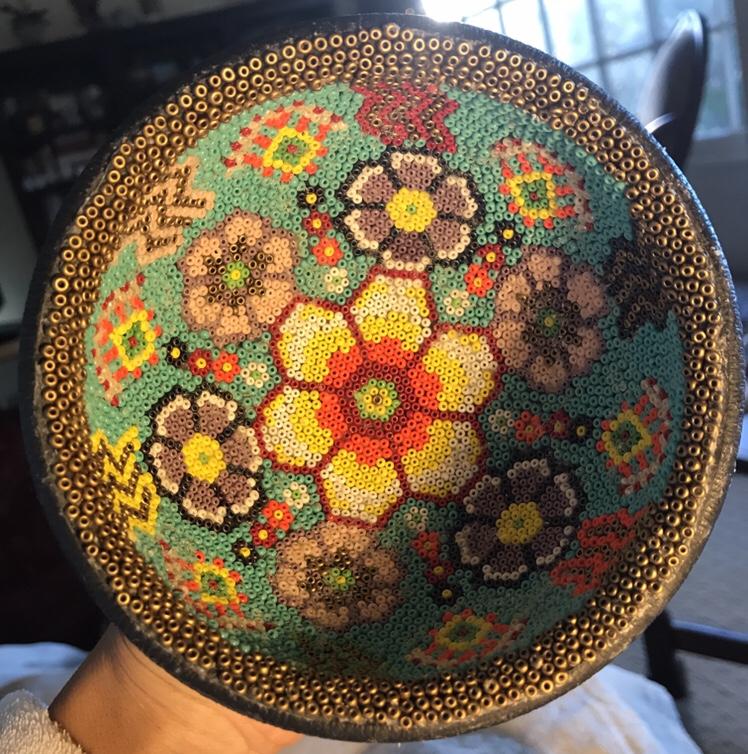 Huichol Bead Art Prayer Bowl